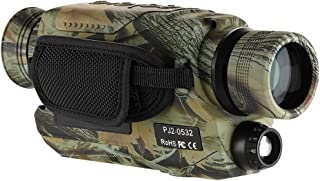 BOBLOV Night Vision Monocular with 16G Card, Digital Infrared Night Scope for Hunting, 5x32 Monocular with Camera & Camcor...