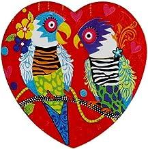 Maxwell & Williams Love Hearts Ceramic Heart Coaster 10cm Tiger Tiger
