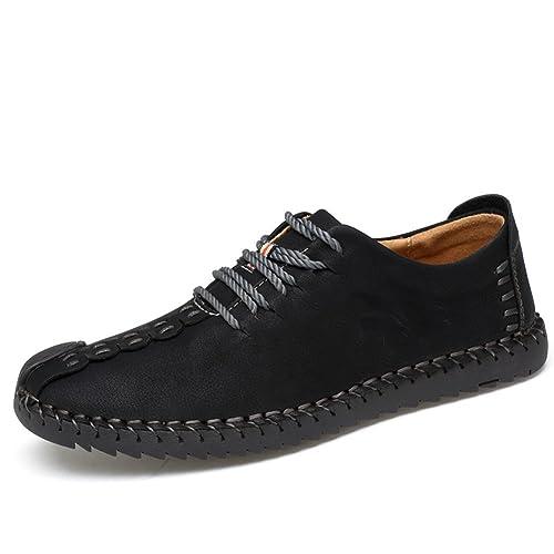 a341248cbbdfe Zapatos de cuero casual de los hombres Zapatos Planos con Cordones hombre  Oxford vestido mocasines zapatos