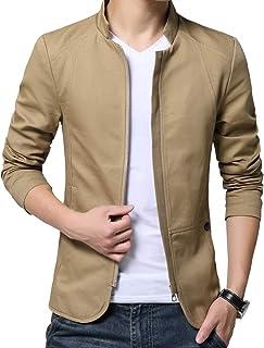 CEEN メンズ ジャケット スタンドカラー コート アウター 長袖 ハイネック 無地 上着 立ち襟 カジュアル 秋冬 スリム 大きいサイズ M~5XL
