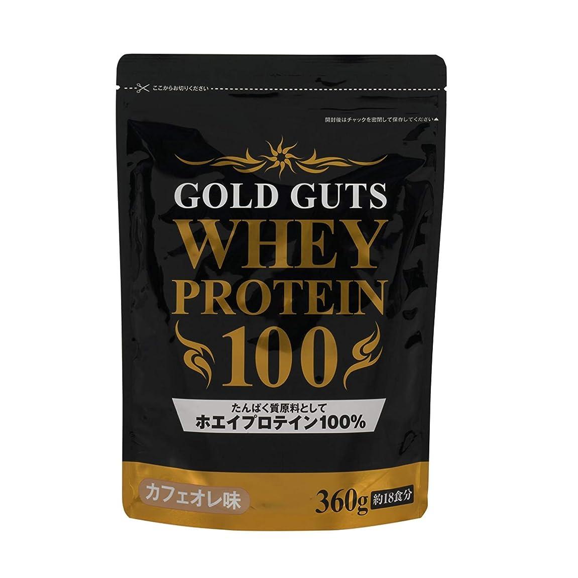 作り上げるジョセフバンクス付添人GOLD GUTS ゴールドガッツホエイプロテイン100% カフェオレ味 360g