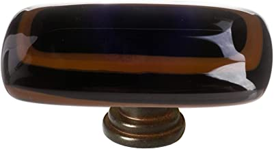 product image for Sietto LK-101 Stratum 2 Inch Long Rectangular Cabinet Knob, Oil Rubbed Bronze