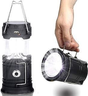 【旅とアウトドア】ソーラー 蓄電池 内蔵 照明6LED 懐中電灯 1W 2WAY 充電USB ランタン アウトドア キャンプに最適