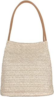 Aphoraeny Straw Beach Bag Buckets Totes Handbag Shoulder Bag Tote Bag Women Summer Handbag