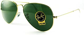 RB3025 Classic Aviator Sunglasses Gold/Crystal Green...