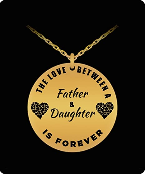 2 Father and Daughter Necklace Chain Birthday Gift For Daughter from Dad Ver