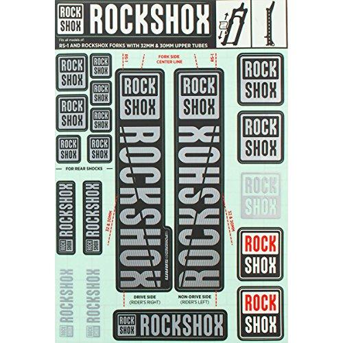 RockShox Aufklebersatz 30/32mm und RS1 grau, SID/Reba/Revelation (<2018) Sektor/Recon/X32/30G/30S/XC30, 11.4318.003.504 Ersatzteile, Standrohre