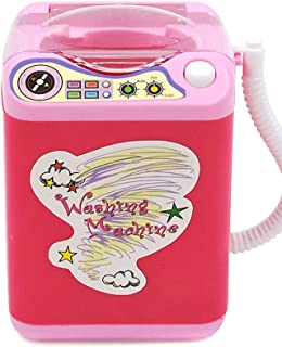 Aeebuy Mini multifunktion barn tvättmaskin leksak skönhet svamp borstar tvättmaskin röd