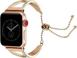 Pulseras de Acero Inoxidable para Apple Watch 38mm 40mm 42mm 44mm, Pulsera Acero Correas Reemplazo de Banda Pulsera Reloj ...