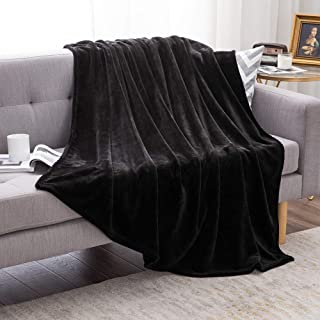 MIULEE Soft Flannel Fleece Blanket King Size Black Fluffy Bed Blanket for Sofa or Bed - Plush Blanket Microfiber for Adults or Kids Napping Sleeping All The Year Around