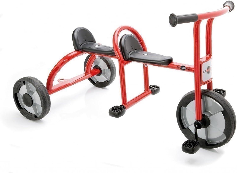 JAALINUS Taxi   Dreirad für 2 Kinder im Alter von 3-7 Jahren   Lnge  115 cm   Sitzhhe 36 cm   max. Belastbarkeit  100kg