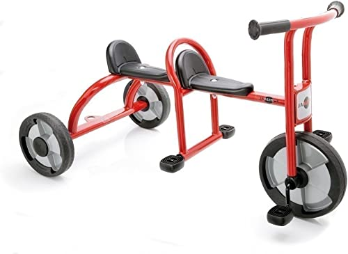 JAALINUS Taxi   Dreirad für 2 Kinder im Alter von 3-7 Jahren   L e  115cm   Sitzh  36cm   max. Belastbarkeit  100kg