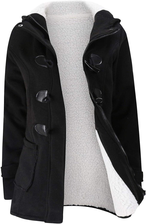 Women Commfy Lining Plush Coat Winter Warm Jacket Solid Outwear Zipper Overcoat Windbreaker