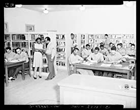 1943 Photo Camp Lejeune, New River, North Carolina. Scene in the library showing members of the 51st Composite Battalion, U.S. Marine Corps, studying Location: New River, North Carolina, Onslow County