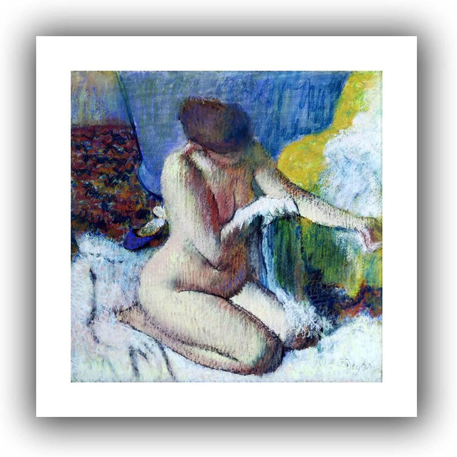 Art Wall Edgar Degas 'After the Bath' Unwrapped Canvas, Flat 28 x 28
