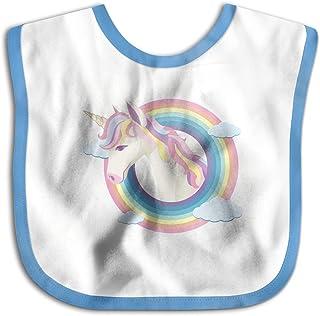 UBCATDESA Unicorn Rainbow Baby Bibs, Unisex Baby Soft Cotton Easily Clean Teething Bibs(Blue&Pink)