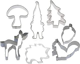7 Piece Woodland Gnome Critter Cookie Cutter Set