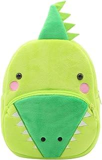 Mochila para niños, bonita mochila para niños pequeños y niñas, con dibujos animados, de peluche, con una pequeña bolsa para bebés de 1 a 3 años