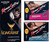 KamaSutra Ribbed, Longlast, Dotted Condom (36S)-Set of 3