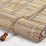 JIAOLUN123 Tenda a Rullo in bambù in Stile retrò Tapparella ?in Bamboo Tenda a Rullo a Pacchetto Naturale,Protezione Solare e Protezione dalla Vista per finestre e Porte Tendina Parasole (70 x 240 cm)