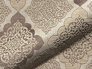 Raumausstatter.de VIBORG 951 - Tela para tapizar (poliacrílico y poliéster), diseño con Ornamentos, Color marrón