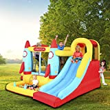 Inflatable Water park Water Bounce House Inflatable Water Slides for Kids Backyard 131.10''L x 108.27''W x 72.83''L Wet and Dry Playground Sets with 450W UL Certified Air Blower, Carry Bag & Stakes