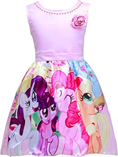 Unicorn Sleeveless Princess Birthday Party Dress