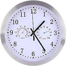 Yavso 30cm Reloj de Pared Radiocontrolado Silencioso Reloj