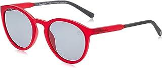نظارة شمسية للرجال موديل TB918267D54 من تيمبرلاند، احمر بدون لمعة/ عدسات رمادية داكنة مستقطبة معدنية