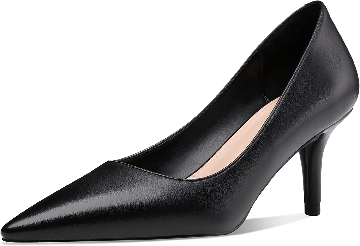 CosyFever Womens DC65 Slip On Low Cut Uppers Pointed Toe Pu Mid Stiletto Pumps