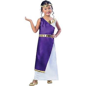 Disfraz de niña griega romana 9-10 años: Amazon.es: Juguetes y juegos