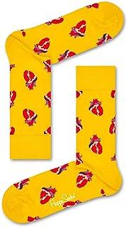 Happy Socks, True Love Sock Calcetines, Amarillo (Yellow), 7/10/2018 (Talla del fabricante: 41-46) para Hombre