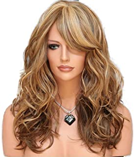 blusea KW-004 High-temperature Synthetic Fiber Wigs Heat Resistant Long Hairpiece Hair Wig for Women Wavy Curly Hair Full ...