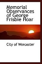Memorial Observances of George Frisbie Hoar