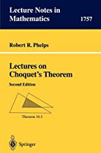 Lectures on Choquet's Theorem (Lecture Notes in Mathematics)