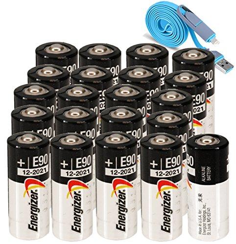 Energizer E90 (20-Pieces) MN9100 LR1 UM-5 UM5 1.5v Alkaline battery