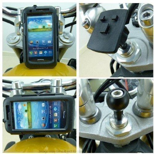 Buybits 19mm Galaxy S3 GT-i9300 Sport Moto Fourche Étui Rigide (Support Sku 15687 )