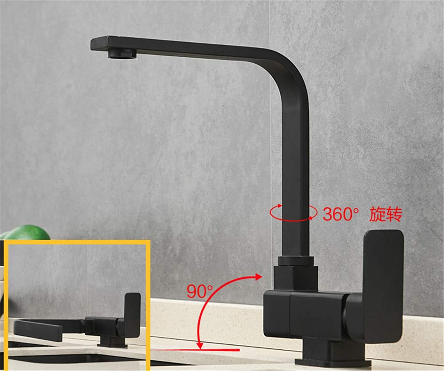 Guolaoer Faucet Black Hot And Cold Inside Open Window Folding redatable???Black