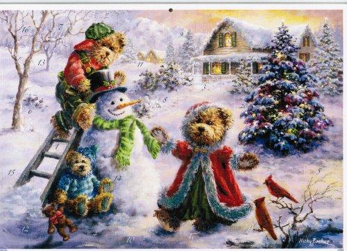 Teddys und Schneemann