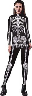 Halloween Jumpsuit Human Skull Skeleton Bone Bodysuit 3D Print Funny Skinny Stretch Costume