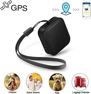 Personal GPS Tracker, Mini GPS Tracker for Kids Real Time GPS Tracker with Voice Monitoring SOS Emergency for Kids Children Adults Elderly Pet Vehicle Assets