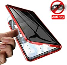 IQIYEVOLEW Anti-Peep iPhone 11 Pro Max Case, Anti-spy Magnetic Clear Double-Sided Privacy Screen Protector Magnets Metal Bumper 360°Full Body Cases for iPhone 11 Pro Max (Red, iPhone 11 Pro Max)