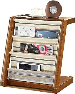 Strong Sturdy bookshelf Solid wood newspaper rack, creative newspaper rack, floor magazine rack, vertical bookshelf Floor-...