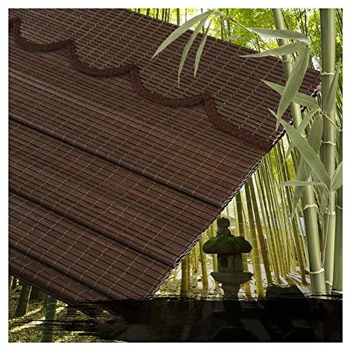 CHAXIA Bambus Rolle Bambusrollo Romanik Licht Abdecken Hohe Verschattungsrate Breiter Bambus Vorhang Wohnzimmer Trennwand, 2 Arten Mehrere Größen Erhältlich