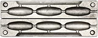 Adygil Bean Sinker Mold with 3 Cavities and 3-Ounce