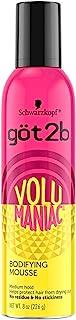 Got2b Volumaniac Bodifying Hair Mousse, 8 Ounce