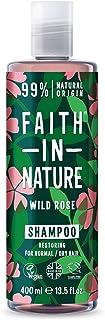 Faith In Nature Champú Natural de Rosa Silvestre Reparador Vegano y No Testado en Animales sin Parabenos ni SLS para C...