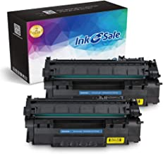 INK E-SALE Compatible Toner Cartridge Replacement for HP 49A Q5949A 53A Q7553A (Black, 2 Pack), for use with HP Laserjet 1320 1320n 3390 P2015 P2015d P2015dn P2014 M2727 M2727nf MFP Printer Series