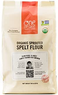 One Degree Organic Foods Sprouted Spelt Flour, 80 Ounce