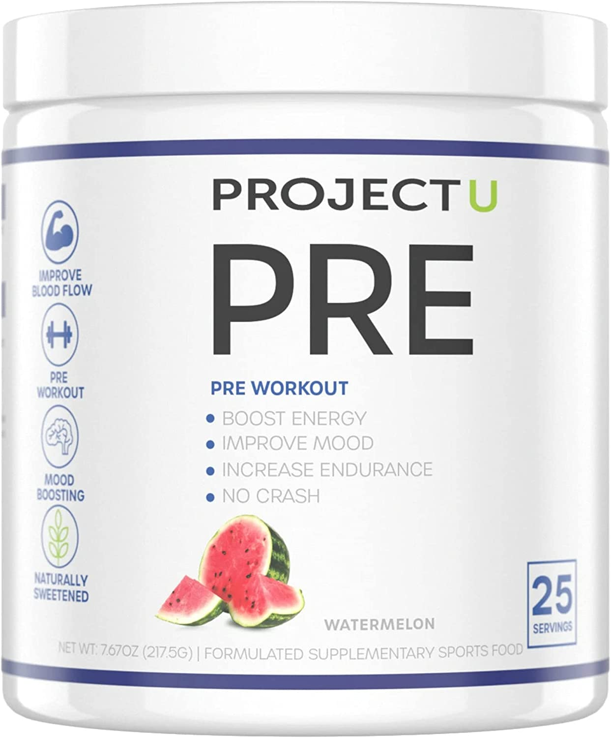 Project U PRE quality assurance Pre Suppleme Plant-Based Workout New popularity 100%